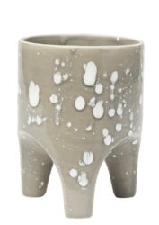 Angus & Celeste Arched Leg Planter Grey Crystal