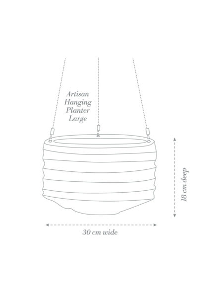 Artisan Hanging Planter Large Product Diagram