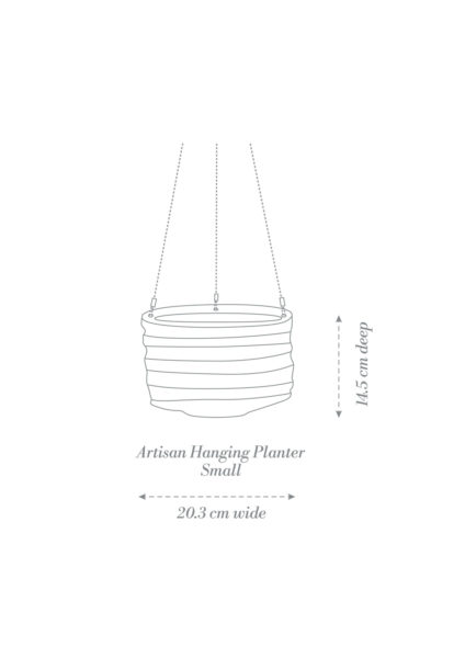 Artisan Hanging Planter Small Product Diagram