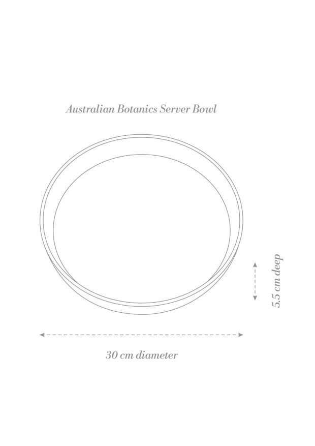 Australian Botanics Server Bowl Product Diagram