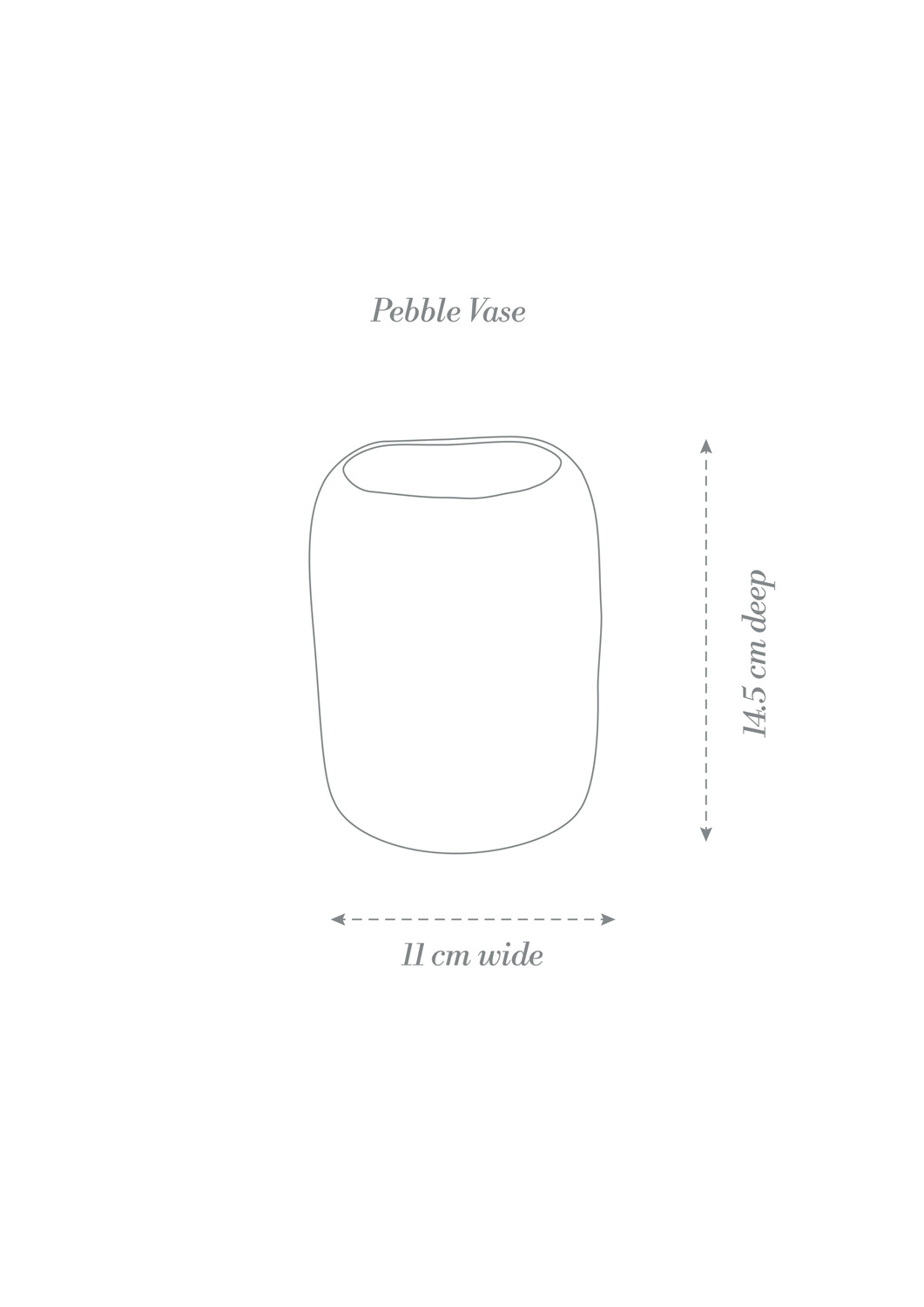 Pebble Vase Product Diagram