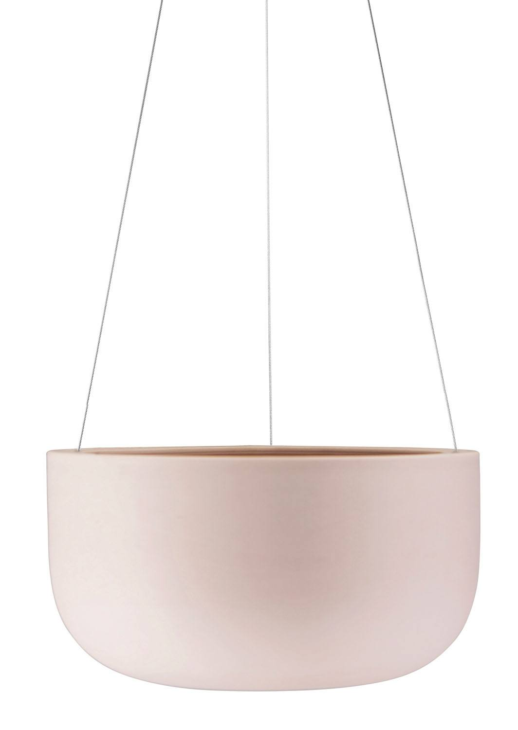 Raw Earth Hanging Planter Large Rock Salt Pink