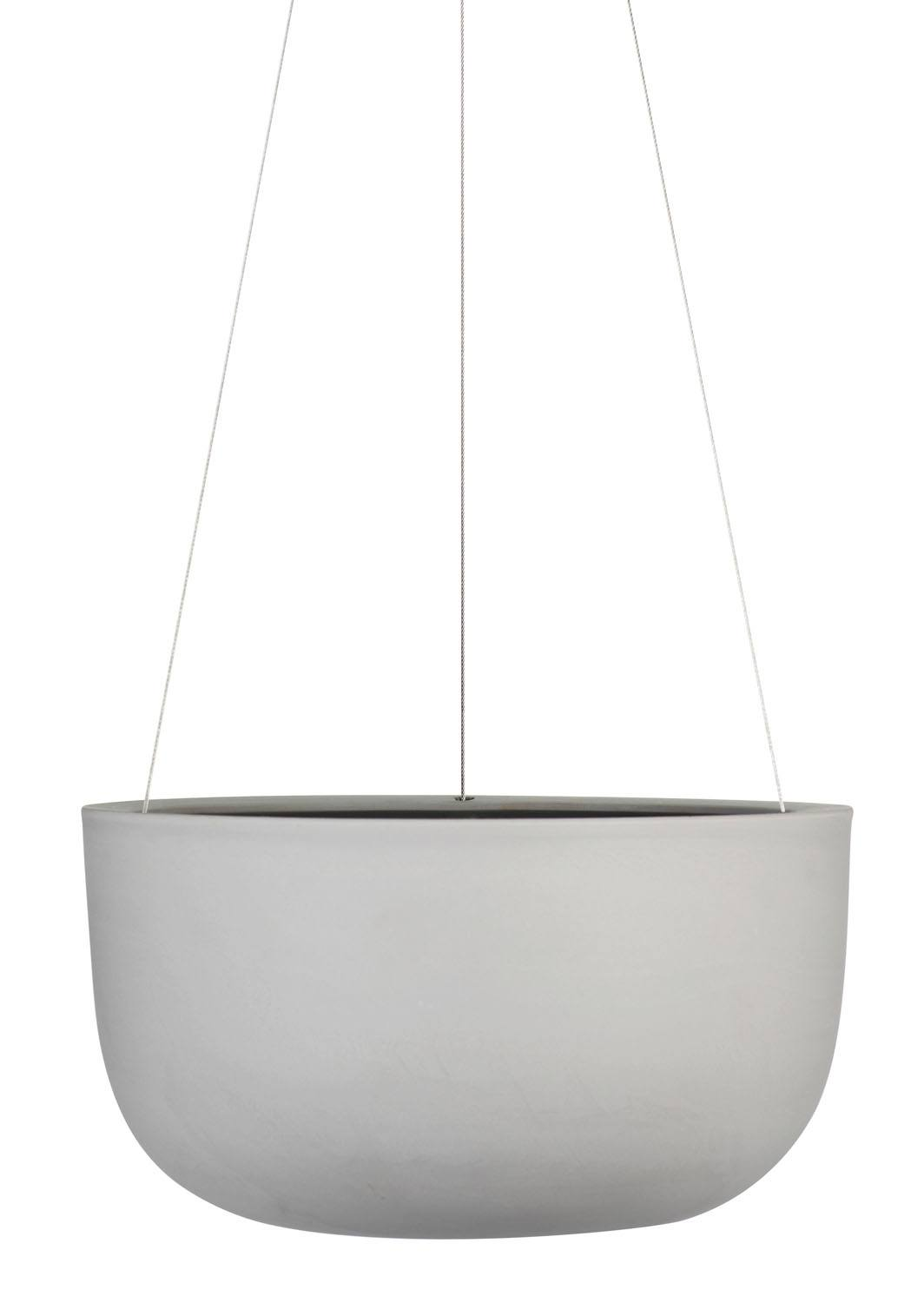 Raw Earth Hanging Planter Large Siltstone Grey
