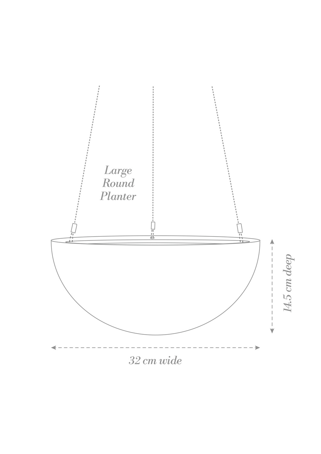 Hanging Planter Large Product Diagram
