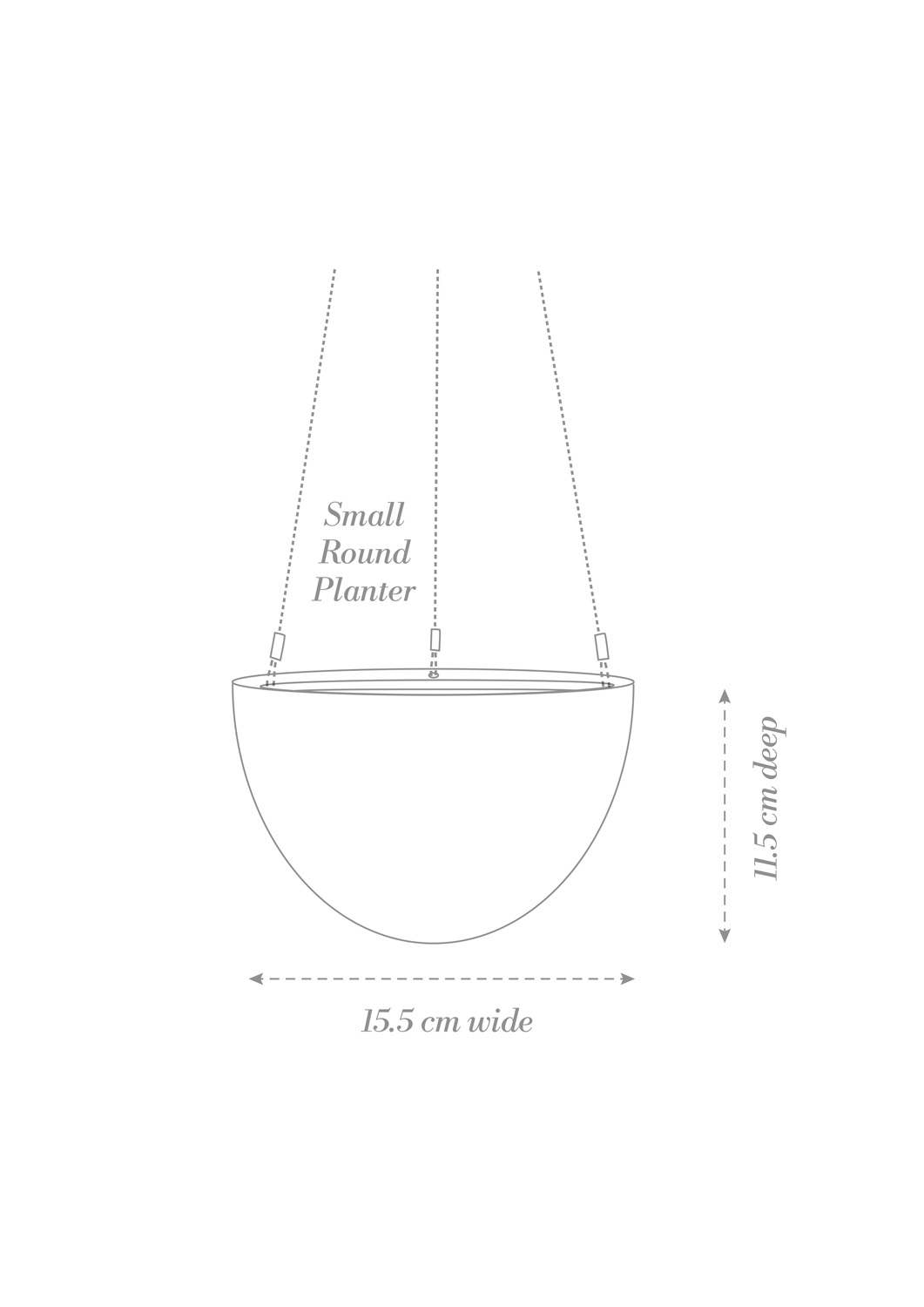 Hanging Planter Small Product Diagram