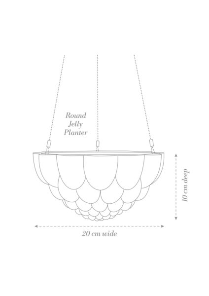 Round Jelly Hanging Planter Product Diagram