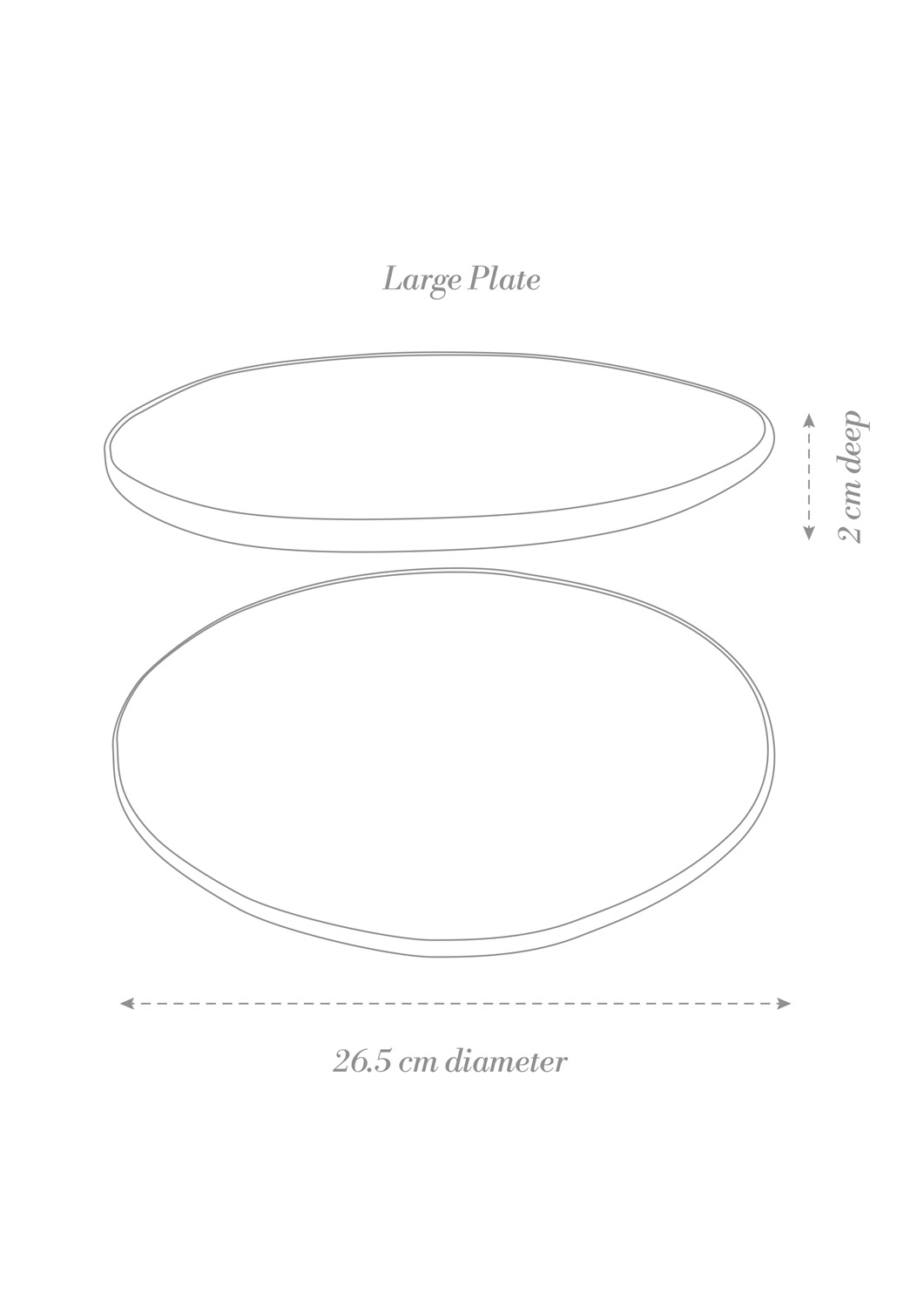 Sashimi Large Plate Product Diagram