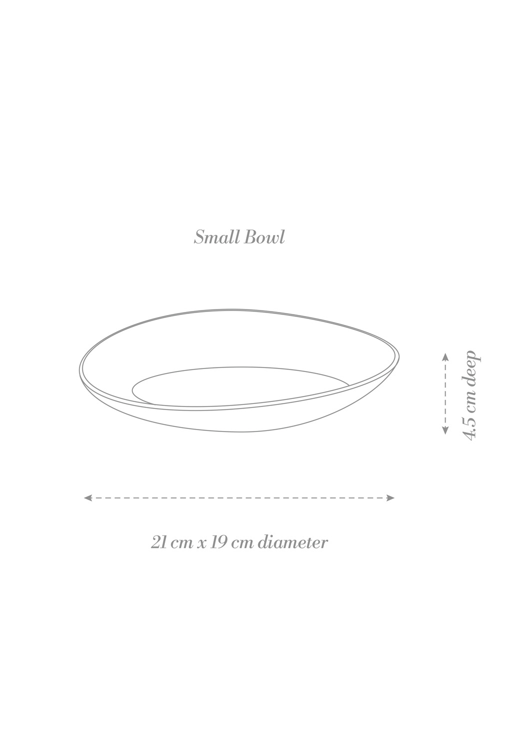 Sashimi Small Bowl Product Diagram