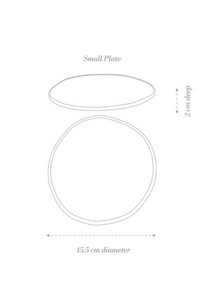 Sashimi Small Plate Product Diagram