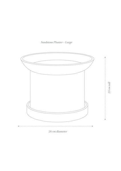 Sandstone Plant Pot Large Product Diagram
