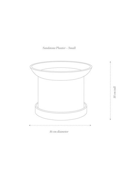 Sandstone Plant Pot Small Product Diagram