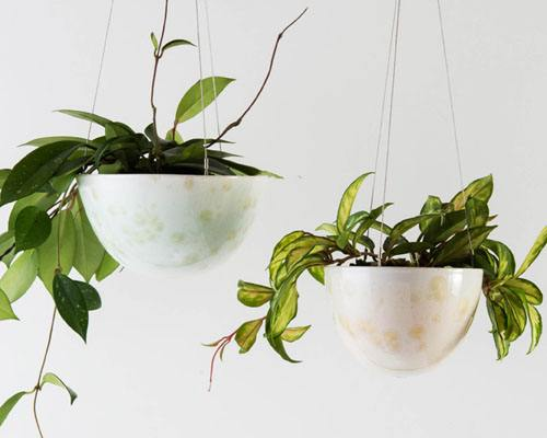 Crystalline Hanging Planters