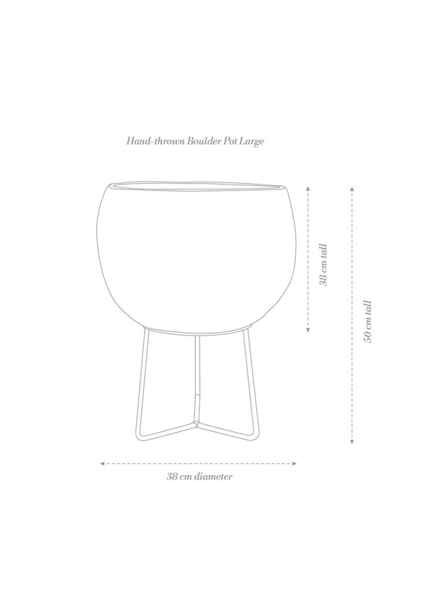 Hand-thrown Boulder Pot Large Product Diagram