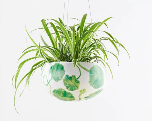 Decorative Pebble Hanging Planters