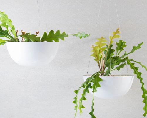 White Hanging Planters
