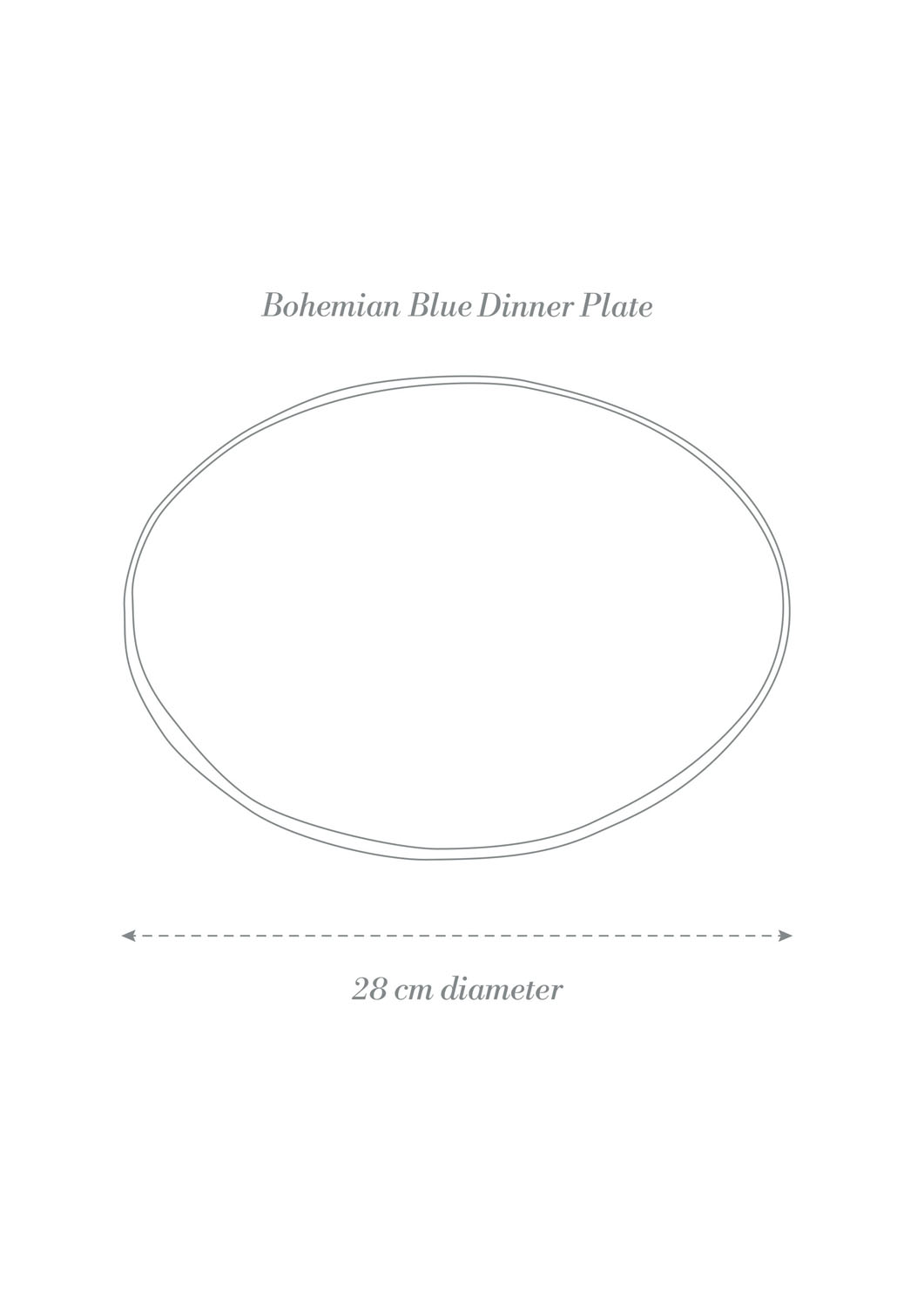 Bohemian Blue Dinner Plate Product Diagram