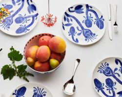 Angus & Celeste Bohemian Blue Dinner Set
