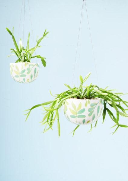 Angus & Celeste Decorative Hanging Planter Green Zamia
