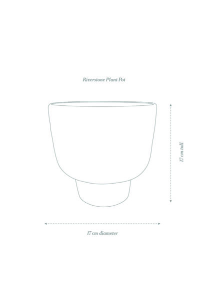 Angus & Celeste Riverstone Plant Pot Product Diagram