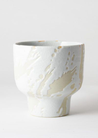 Angus & Celeste Riverstone Plant Pot White Splash