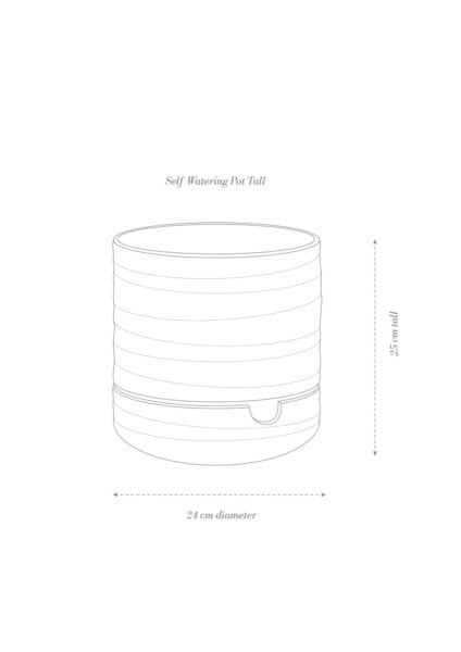 Angus & Celeste Self Watering Plant Pot Tall Product Diagram