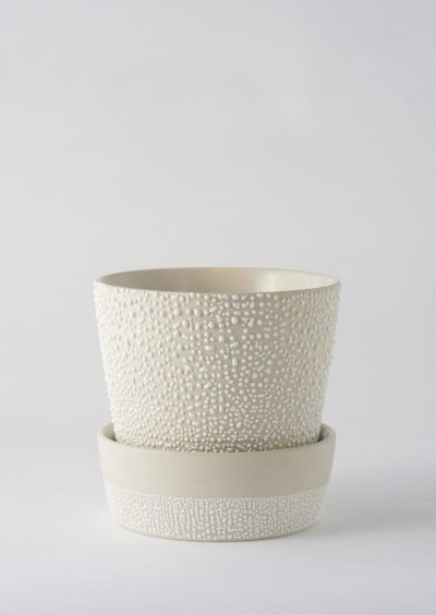 Angus & Celeste White Water Bead Planter Pot
