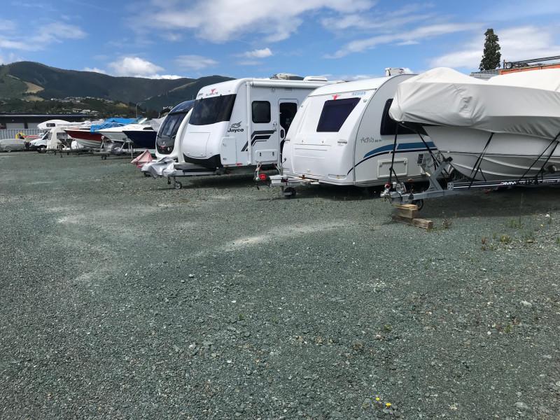2.5m x 7m  Boats, caravans & campervans up to 7m