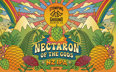 Stomping+Ground+Brewing+Co+-+Nectaron+of+the+Gods+NZ+IPA+Flat+Design