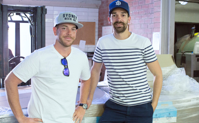 (l-r) Sydney Beer Co.'s Matt Siely and David Maronese
