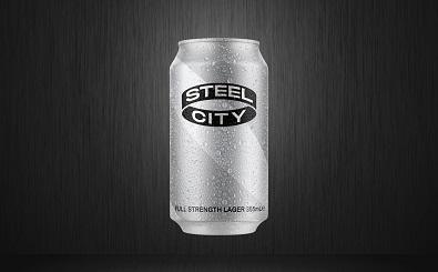 Steel City Full Strength Lager 355mL Front