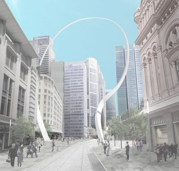 Artist impression of Cloud Arch by Junya Ishigami