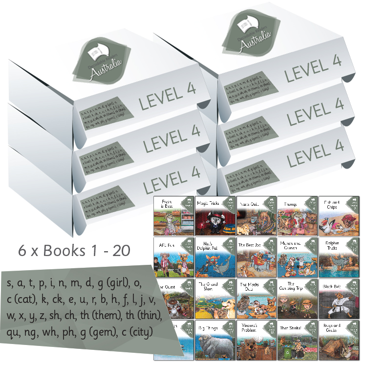 Level Four | Phonics Books Australia | Decodable Readers Australia