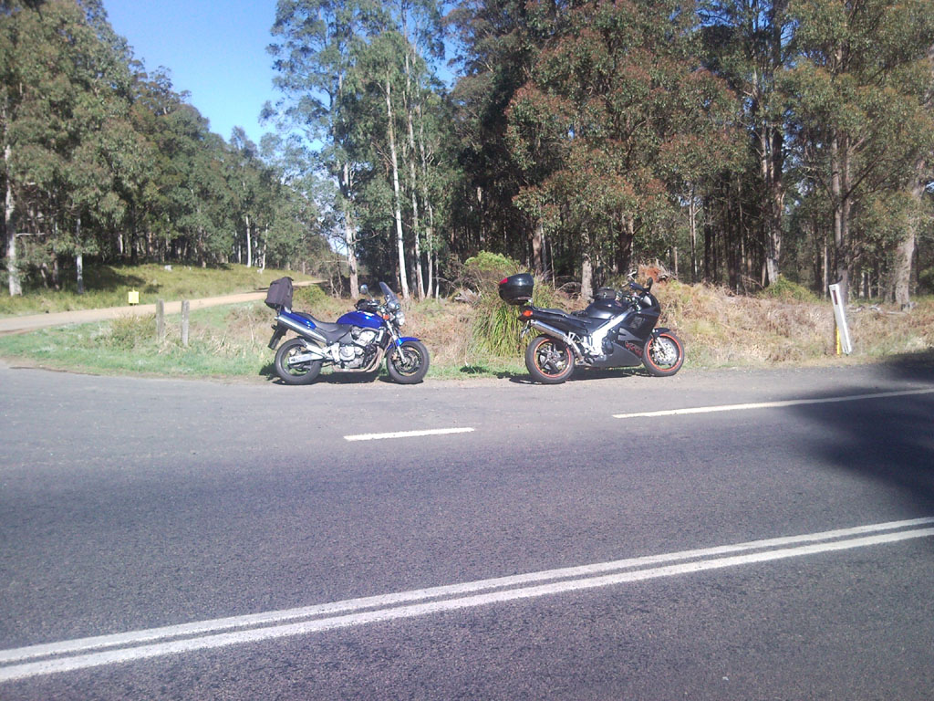Catching our breath at the top of the Oxley