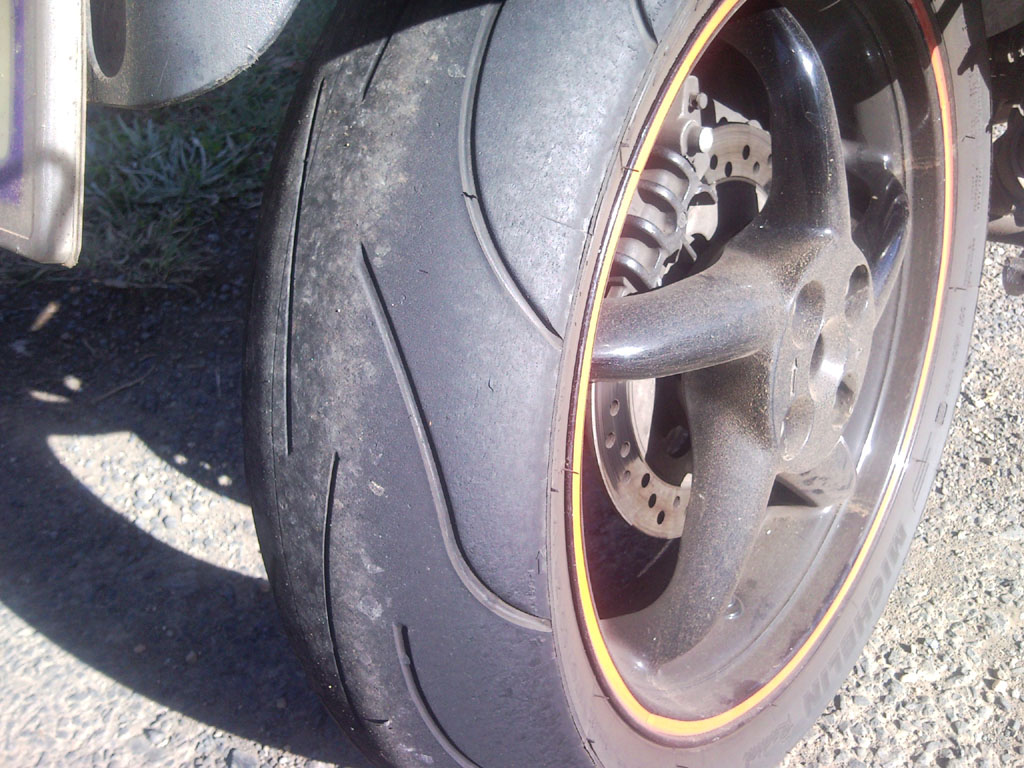 My rear tyre at the top of the Oxley
