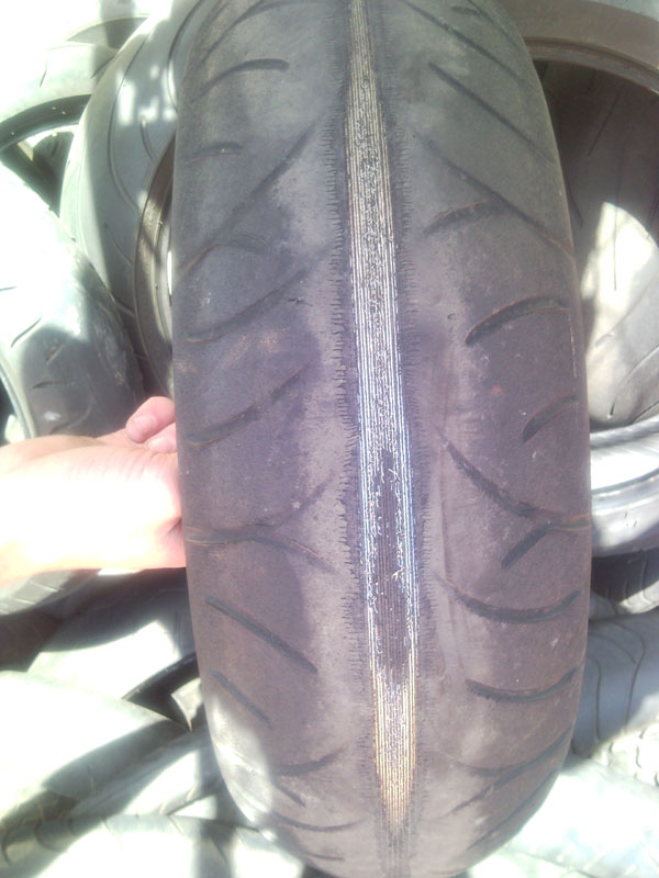 Paul's rear tyre