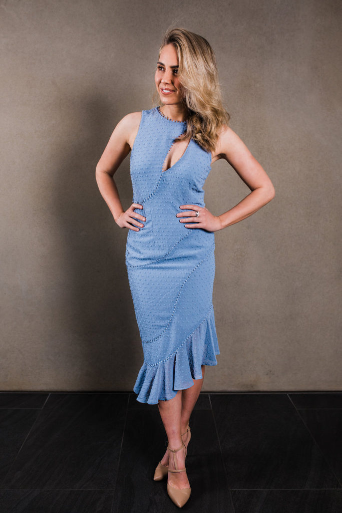 La Maison Talulah Sweet Allure Aysmmetrical Midi Dress