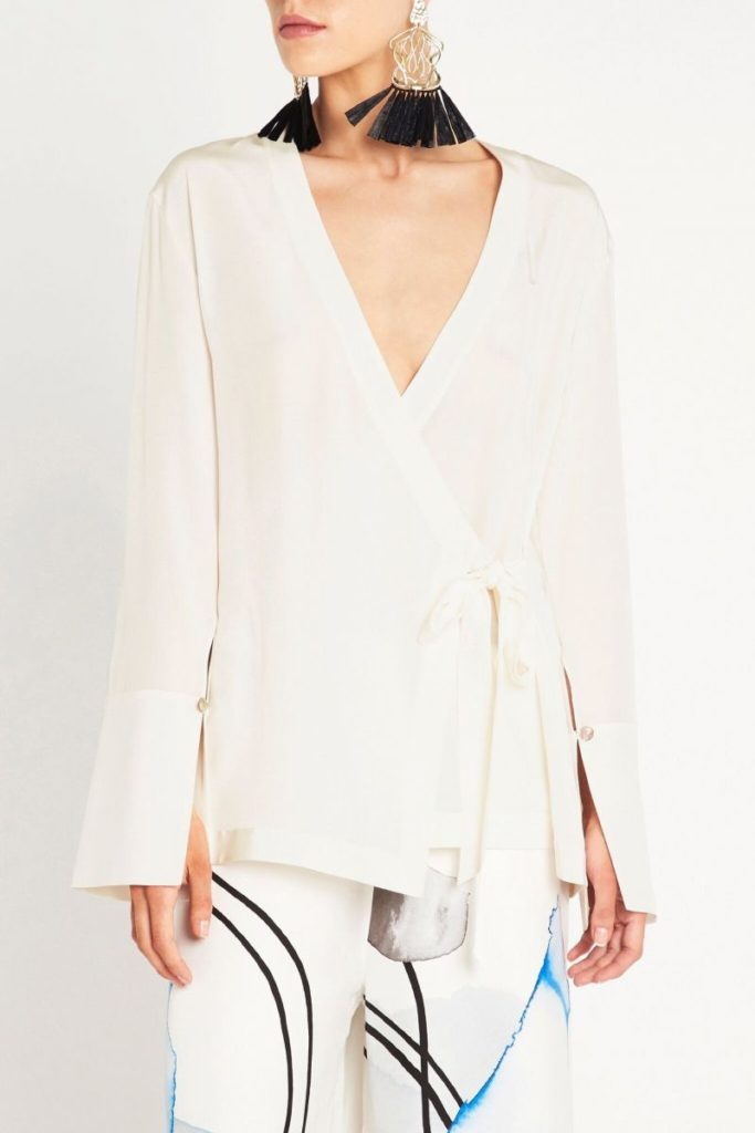 sass and bide Silk Tales Top – Ivory
