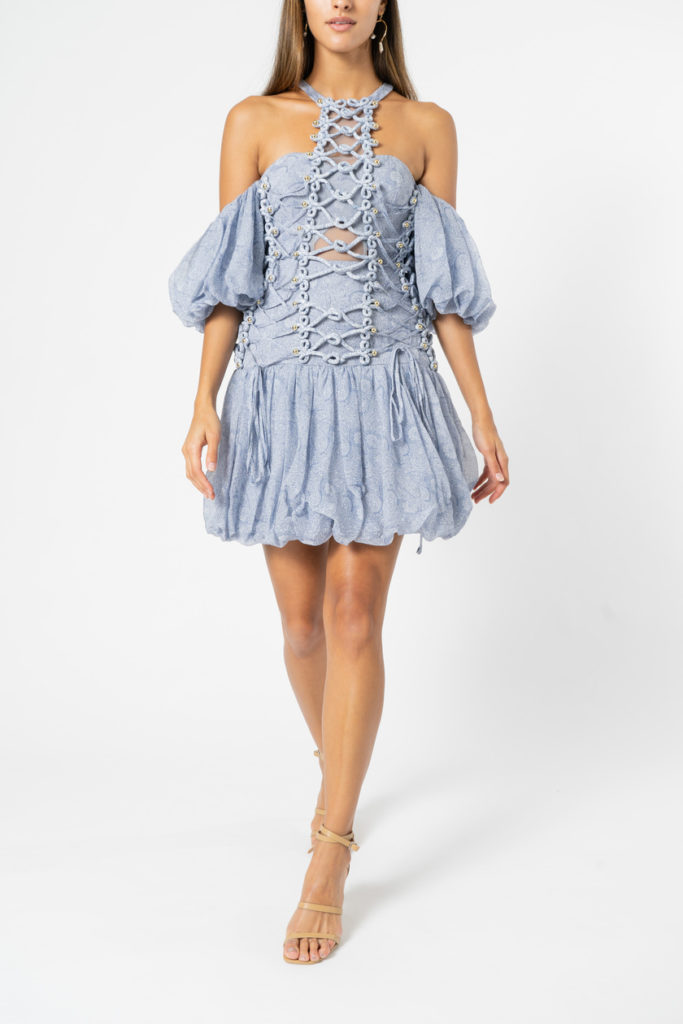 Thurley Pageant Dress  Dusty Blue