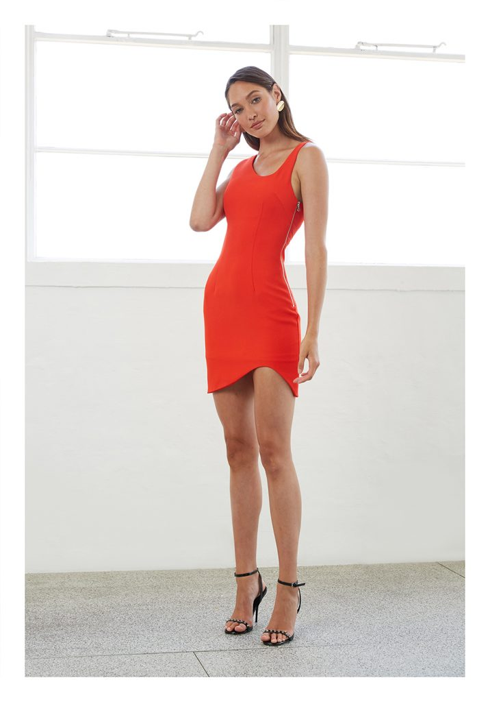 By Johnny Red Rush Asymmetric Mini Dress