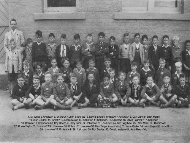 Camdenville School 1946 - 3rd Class