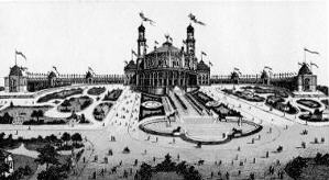 1879 The Trocadero Palace in Paris. 19th Century. The inspiration for the naming of Newtown's Trocadero.