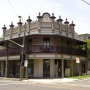 J. Palmer Buildings, erected 1886. This building has recently been restored to original appearance, beautiful.