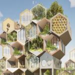 Honeycomb shaped living pods