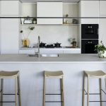 White porcelain kitchen fit out