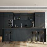Black kitchen fitout
