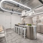 Kitchen in NYC 'smile' building