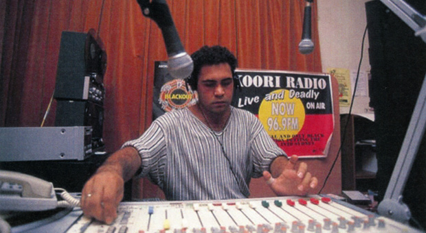 Trevor Dodds, presenter of Koori Radio 93.7FM (photograph courtesy Gadigal Information Service Archive)