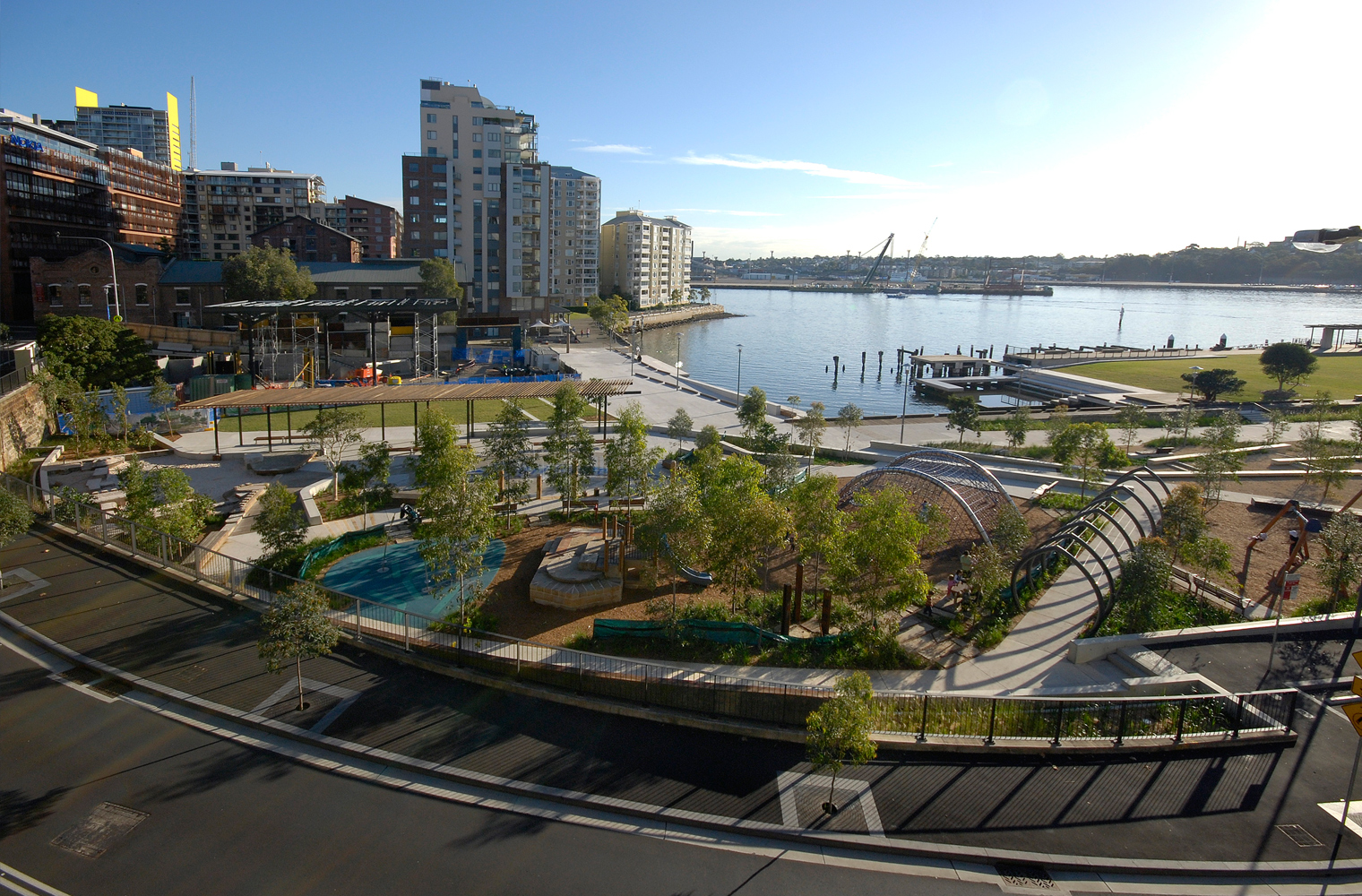 The completed park in 2009. (Paul Patterson / City of Sydney)