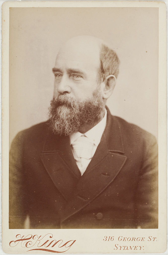 Photograph of Henry George taken during his visit to Sydney in 1890