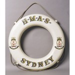 Life buoy, presented to the City of Sydney on the decommissioning of the third HMAS Sydney, c1848 Sydney Town Hall Collection 88-001 Photo Greg Piper